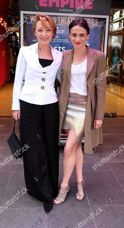 The London Premiere of Ghosts at the Empire Leicester Square Lesley Manville and Charlene Mckenna