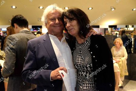 Stock Image of The London Premiere of Ghosts at the Empire Leicester Square Director Sir Richard and Lady Eyre