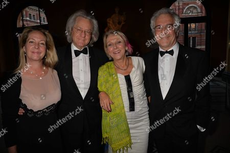 The Man Booker International Prize at the Victoria and Albert Museum Brompton Road West London Katie Hickman Anthony Grayling Dotti Irving & John Reiss