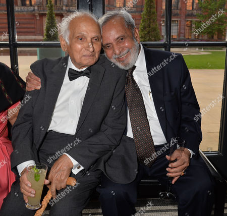 The Man Booker International Prize at the Victoria and Albert Museum Brompton Road West London Intizar Husain with U R Ananthamurthy