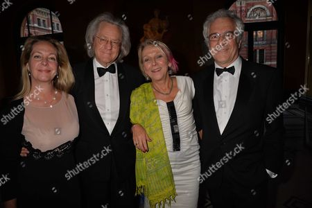 Stock Image of The Man Booker International Prize at the Victoria and Albert Museum Brompton Road West London Katie Hickman Anthony Grayling Dotti Irving & John Reiss