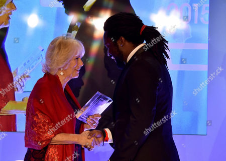 The Man Booker Prize Presention at the Guildhall Gresham Street the Winner Marlon James with the Camilla Duchess of Cornwall