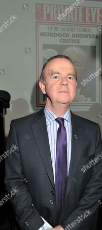 The Paul Foot Award For Campaigning Journalism Private Eye Editor Ian Hislop at Bafta Piccadilly London