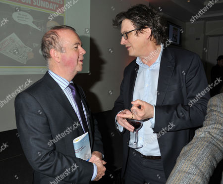 The Paul Foot Award For Campaigning Journalism Private Eye Editor Ian Hislop (l) with Guardian Editor Alan Rusbridger at Bafta Piccadilly London