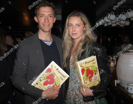 The Pepperpot Club Book Launch at the Rum Kitchen All Saints Road Notting Hill West London Donald Rice with His Sister Eva Rice