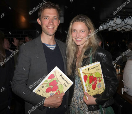 Stock Image of The Pepperpot Club Book Launch at the Rum Kitchen All Saints Road Notting Hill West London Donald Rice with His Sister Eva Rice