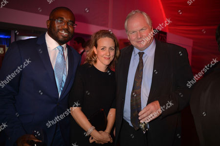 The Power 1000 Launch at Battersea Power Station Hosted by the London Evening Standard David Lammy and His Wife Nicola Green and Adam Boulton