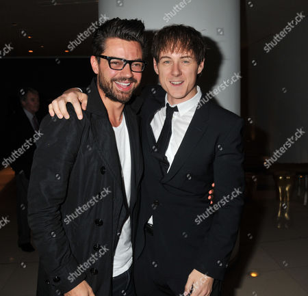The Press Night For Backbeat at the Duke of York's Theatre and the Party at Asia De Cuba at the St Martin's Lane Hotel St Martins Lane London Dominic Cooper and Andrew Knott (john Lennon) Dominic & Andrew where Both in History Boys Together