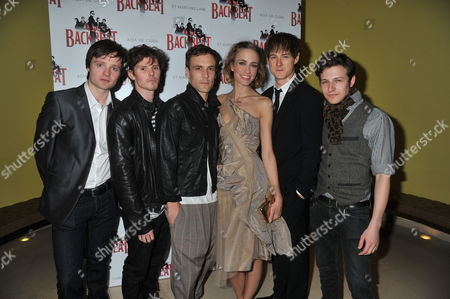 The Press Night For Backbeat at the Duke of York's Theatre and the Party at Asia De Cuba at the St Martin's Lane Hotel St Martins Lane London Cast Members Daniel Healy Oliver Bennett Nick Blood Ruta Gedmintas Andrew Knott and Will Payne
