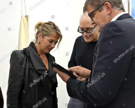 Stock Picture of The Private View of Frieze Art Fair Hyde Park London Tracey Emin & Jay Joplin