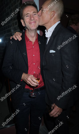 The Royal Academy of Arts Launch of the Keeper's House Burlington House Piccadilly London A Birthday Kiss For Oliver Peyton From Dylan Jones