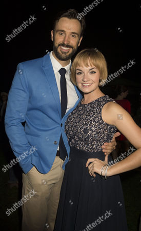 The Sound of Music Press Night at the Open Air Theatre Regents Park London Michael Xavier (captain Von Trapp) & Charlotte Wakefield (maria Rainer) at the After Show Party