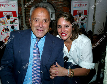 The Spectator Magazine Summer Party at Their Offices at Old Queen Street Westminster London Taki Theodoracopulos and His Daughter Mandolyna Theodoracopulos