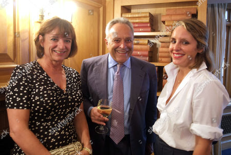 The Spectator Magazine Summer Party at Their Offices at Old Queen Street Westminster London Rosa Monckton & Taki Theodoracopulos and His Daughter Mandolyna Theodoracopulos