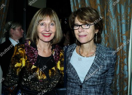 The Stone Club Christmas Drinks at Quintessentially Soho at the House of St Barnabas Greek Street London Carole Stone and Vicky Pryce