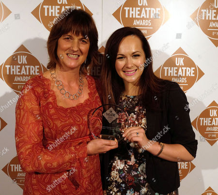 The Uk Theatre Awards at the Guildhall City of London Savannah Stevenson (right) Presents Hedda Beeby with Her Award For Theatre Employee/manager of the Year