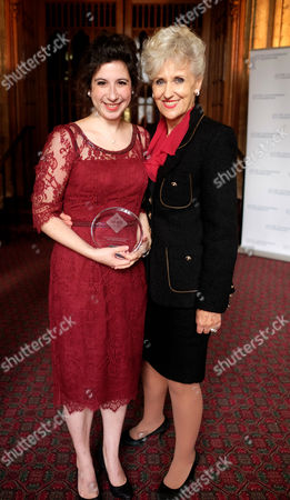 The Uk Theatre Awards at the Guildhall City of London Anita Dobson Presents Jenna Augen with the Best Supporting Performance