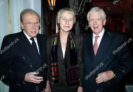 The Veuve Clicquot Business Woman Award at the Ballroom Claridge's Hotel Brook Street London Sir David Frost Baroness Virginia Bottomley and Sir Charles Powell
