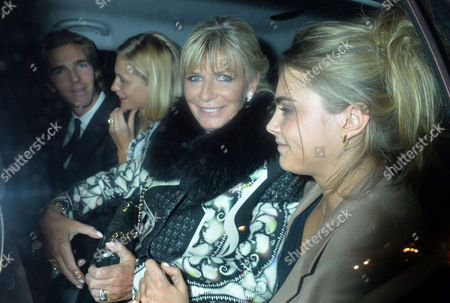 The Wedding of Chloe Delevingne and Ed Grant Wedding Lunch at Mark's Club in Mayfair James Cook Poppy Delevingne Pandora Delevingne and Cara Delevingne