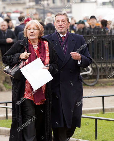 Tony Benn's Funeral at St Margaret's Church Westminster London David Blunkett Mp