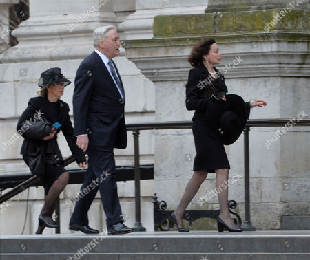 True Blue Lady Thatcher's Funeral at St Pauls Cathedral Lord Conrad Black & His Wife Barbara Amiel