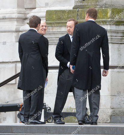 True Blue Lady Thatcher's Funeral at St Pauls Cathedral Lord Tebbitt Geordie Greig & Lord Jonathan Rothermere