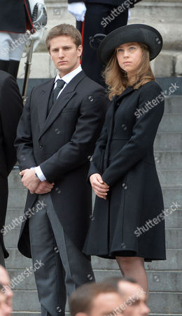 True Blue Lady Thatcher's Funeral at St Pauls Cathedral Michael Thatcher Amanda Thatcher