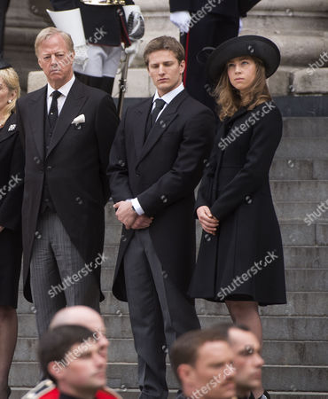 True Blue Lady Thatcher's Funeral at St Pauls Cathedral Sir Mark Thatcher Michael Thatcher Amanda Thatcher
