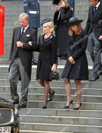 True Blue Lady Thatcher's Funeral at St Pauls Cathedral Sarah Thatcher Sir Mark Thatcher Amanda Thatcher