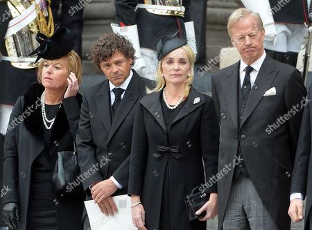 True Blue Lady Thatcher's Funeral at St Pauls Cathedral Carol Thatcher Marco Grass Sarah Thatcher Sir Mark Thatcher