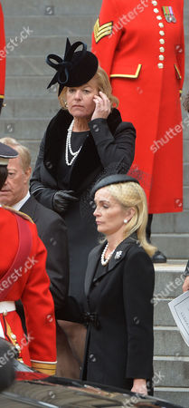 True Blue Lady Thatcher's Funeral at St Pauls Cathedral Carol Thatcher