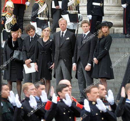 Editorial picture of True Blue Lady Thatcher's Funeral at St Pauls Cathedral
