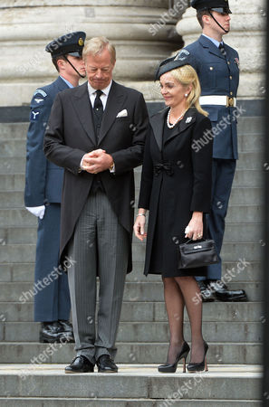 True Blue Lady Thatcher's Funeral at St Pauls Cathedral Sarah Thatcher Sir Mark Thatcher