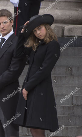 True Blue Lady Thatcher's Funeral at St Pauls Cathedral Amanda Thatcher