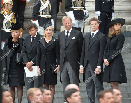 True Blue Lady Thatcher's Funeral at St Pauls Cathedral Carol Thatcher Marco Grass Sarah Thatcher Sir Mark Thatcher Michael Thatcher Amanda Thatcher