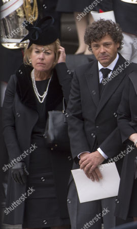 True Blue Lady Thatcher's Funeral at St Pauls Cathedral Carol Thatcher Marco Grass