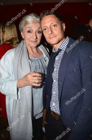 Uk Gala Screening of Before I Go to Sleep at Ham Yard Hotel Soho London Jane Lapotaire with Her Son the Films Director Rowan Joffe