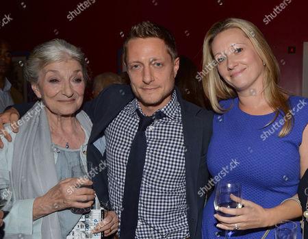 Uk Gala Screening of Before I Go to Sleep at Ham Yard Hotel Soho London Rowan Joffe with His Mother Jane Lapotaire and His Wife