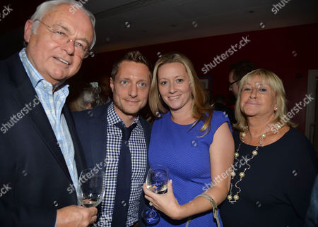 Uk Gala Screening of Before I Go to Sleep at Ham Yard Hotel Soho London Rowan Joffe and His Wife with Her Mother Patsy Baker and Step Father Martyn Lewis