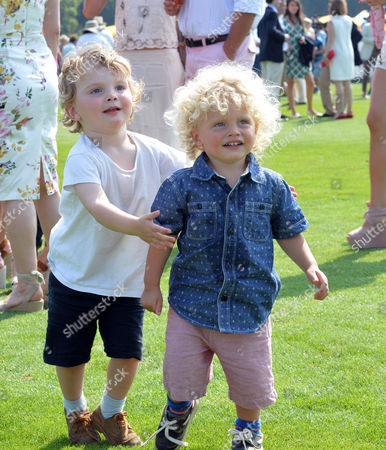 Veuve Clicquot British Open Polo Championships Gold Cup Final at Cowdray Park Polo Club Midhurst West Jack Kidd with His Sister Jody Kidd's Sons