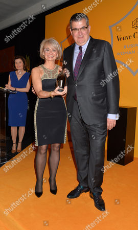 Veuve Clicquot Business Woman Award at Claridge's Ballroom This Years Winner Harriet Green with Jean-marc Lacave