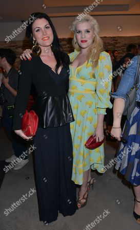 Vogues Fashion Night out at Mullberry New Bond Street Mayfair London Emerald & Coco Fennell