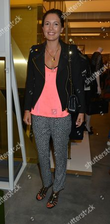 Stock Image of Vogues Fashion Night out at Mullberry New Bond Street Mayfair London Amanda Shepherd ( Mrs Bryan Ferry )