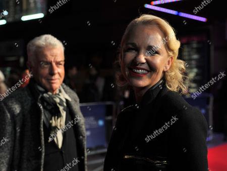 London Film Festival W E Screening at the Empire Cinema Leicester Square London Outside Arrivals Nicholas Haslam & Amanda Eliasch