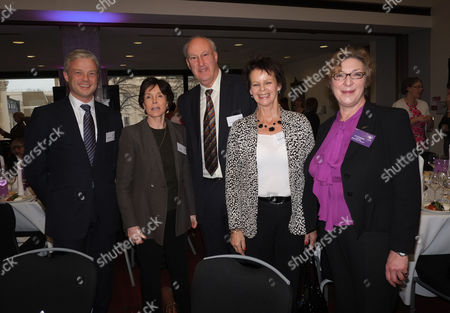 Wellbeing of Women's Annual Women's Lunch Debate at the Royal College of Physicians St Andrews Place Regents Park London Dame Mary Archer Sir Victor Blank Anne Milton Mp & Liz Campbell