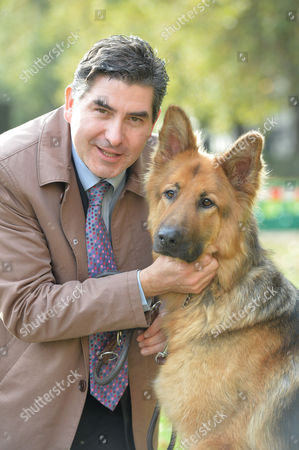 Westminster Dog of the Year Victoria Tower Gardens London This Years Winner and Rob Flello Mp with Diesel