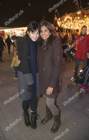 Winter Wonderland Gala in Aid of the Royal Parks Foundation at Hyde Park London Claudia Winkelman & Divia Lalvani