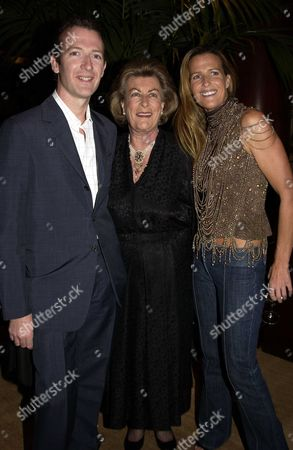 Launch Party in the New Ralph Lauren Home Floor at the New Bond Street Ralph Lauren Shop London Uk For India Hicks & David Flintwoods Book 'Island Life' India Hicks with Her Mother Lady Pamala Hicks & Brother Ashley