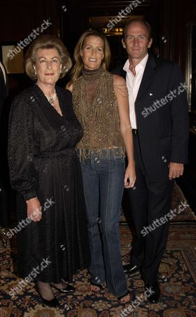 Launch Party in the New Ralph Lauren Home Floor at the New Bond Street Ralph Lauren Shop London Uk For India Hicks & David Flintwoods Book 'Island Life' India Hicks with Her Husband and Co-author David Flintwood & Her Mother Lady Pamala Hicks