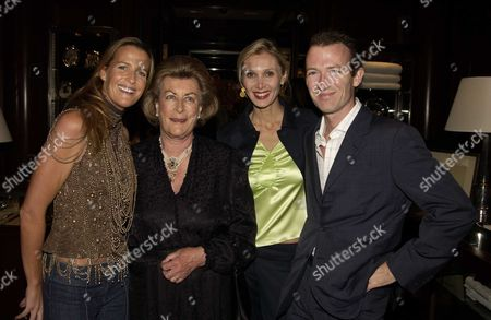 Launch Party in the New Ralph Lauren Home Floor at the New Bond Street Ralph Lauren Shop London Uk For India Hicks & David Flintwoods Book 'Island Life' India Hicks with Her Mother Lady Pamala Hicks Brother Ashley & Sister in Law Allegra Hicks